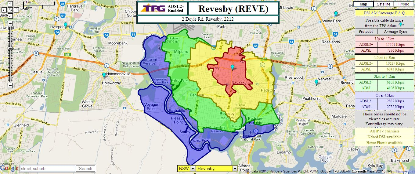 TPG Coverage Maps